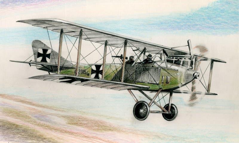 WW1 Albatros C1 stock abbildung