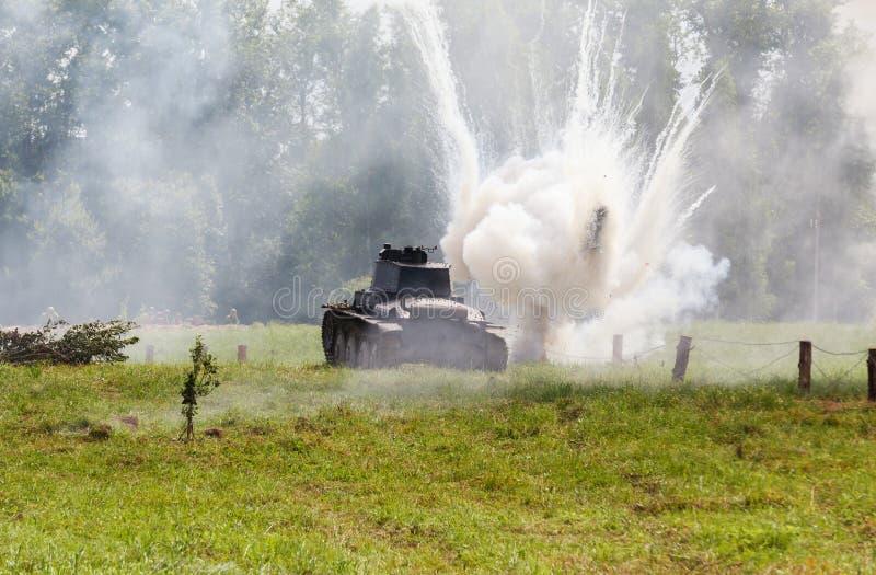 WW2 alemão Panzer 38 (t) carro de combate leve imagens de stock