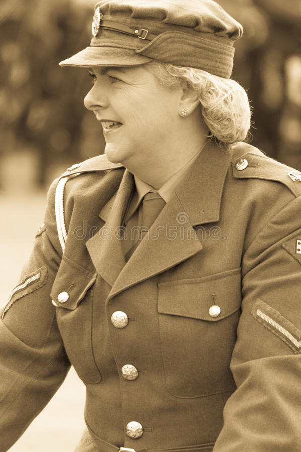 WW2 Auxiliary Territorial Service royalty free stock image