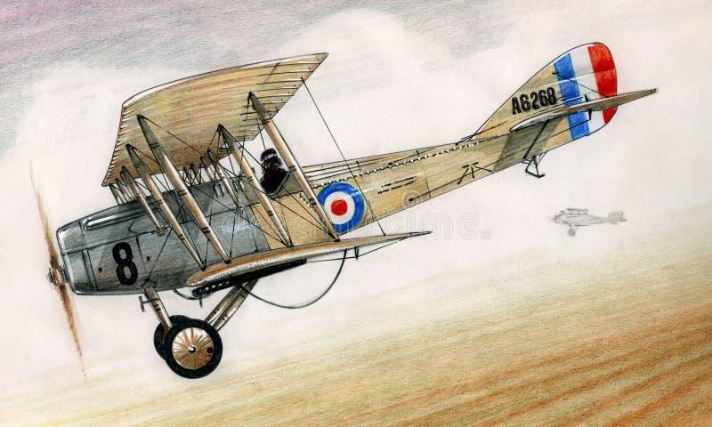 WW1 de Olifant van Martinsyde G100 vector illustratie
