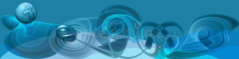ww för baneranslutningsinternet royaltyfri illustrationer