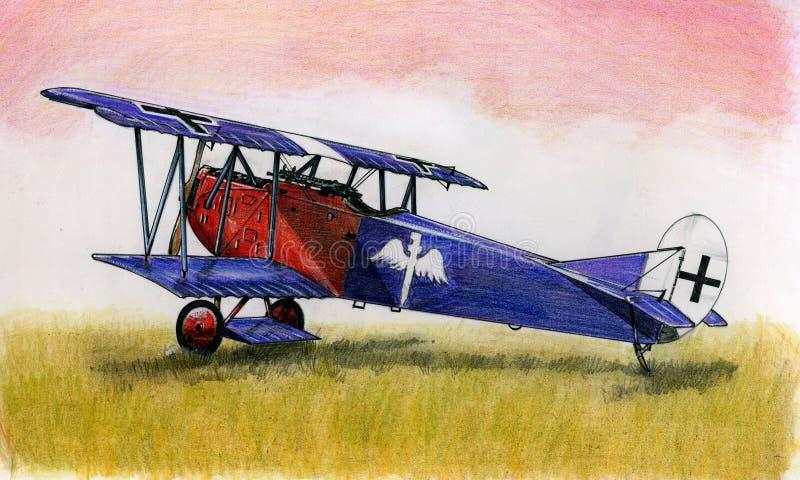 WW1 Fokker DVII royalty-vrije illustratie