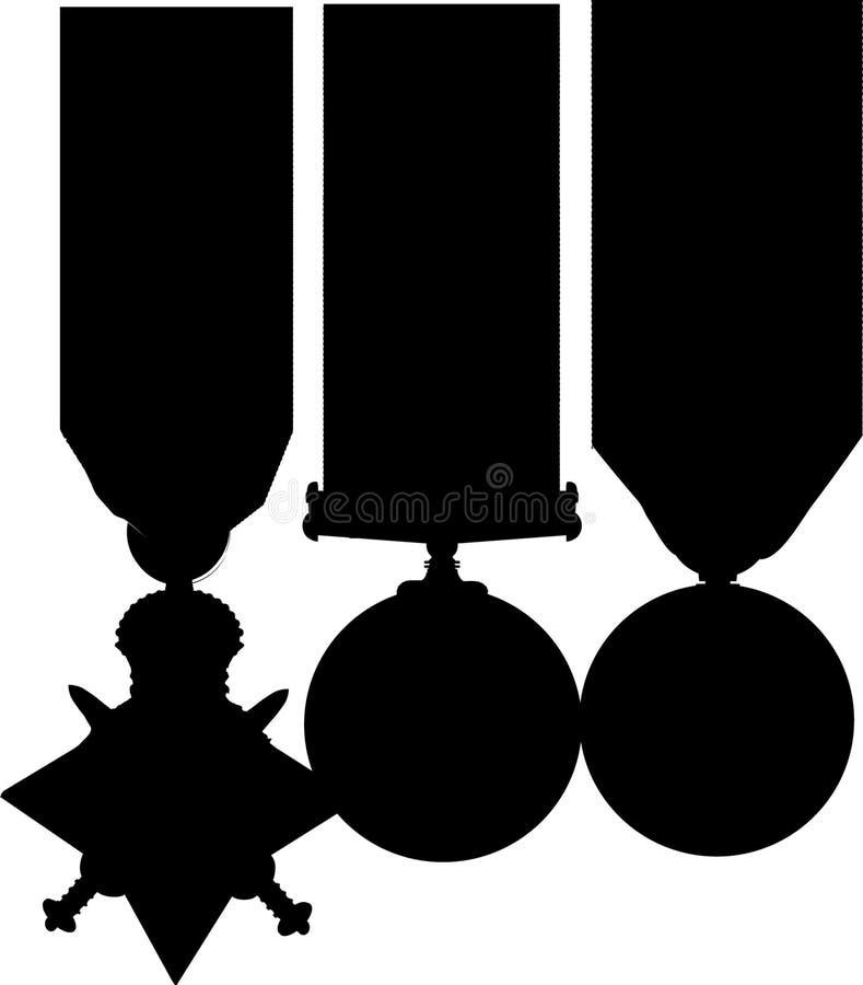 WW1 het Silhouet van het stertrio royalty-vrije illustratie