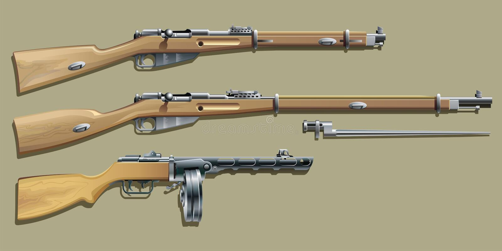WW II Weapon royalty free illustration