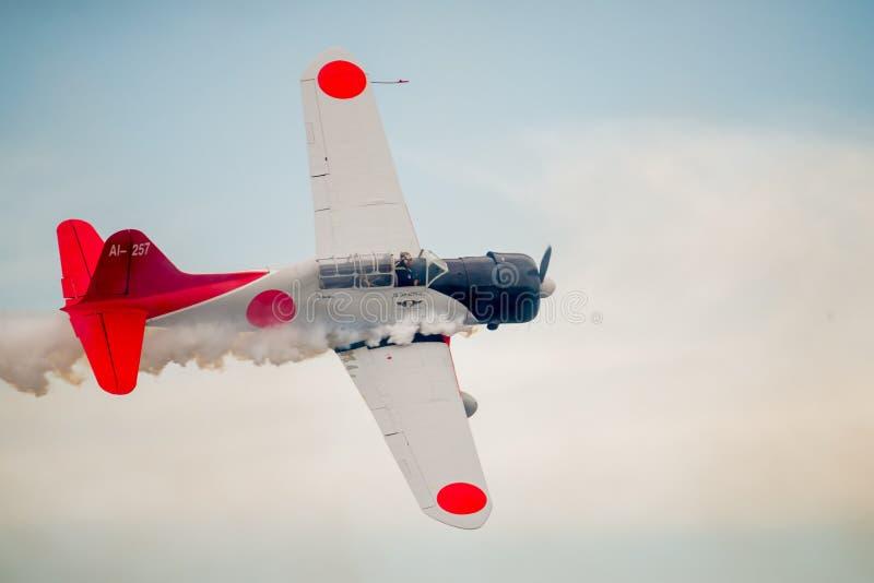 WW2 Japanese Warplane. SAN ANTONIO, USA - October 31, 2015: WW2 Japanese Warplane royalty free stock photography