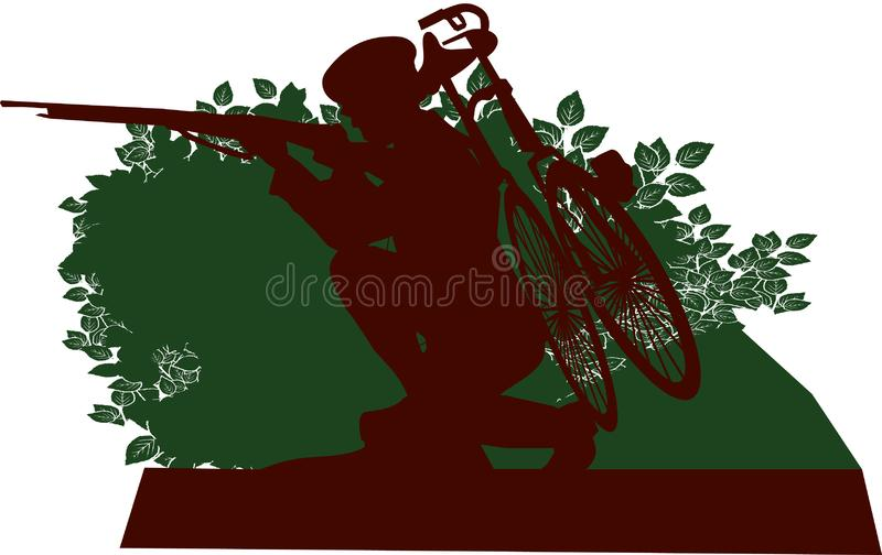 WW1 legerfietser stock illustratie