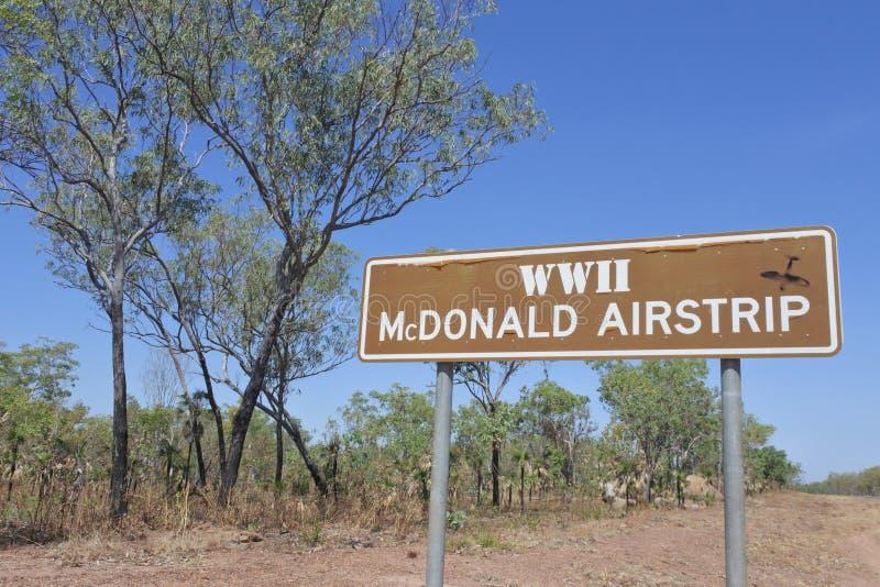 WW2 MacDonald Airstrip Darwin Northern Territory Australia stock image