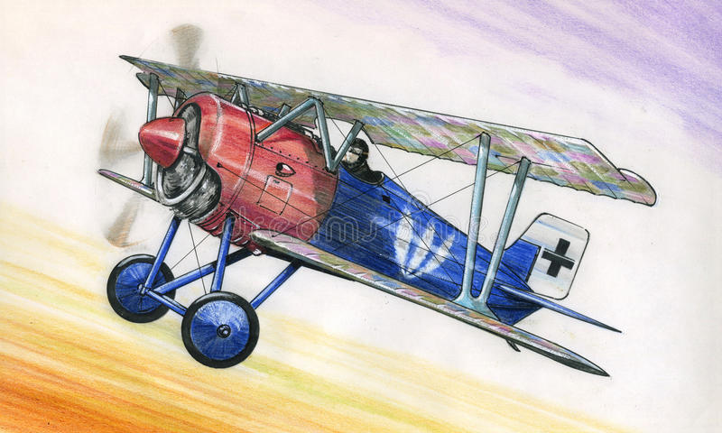 WW1 Siemens Schuckert DIII ilustração do vetor