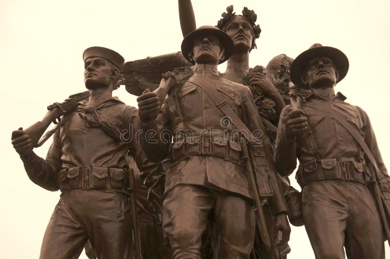 Download WW1 soldiers stock photo. Image of rifle, military, memorial - 51350320