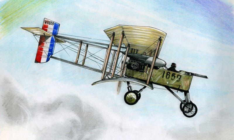 WW1 Voisin 8 stock illustratie