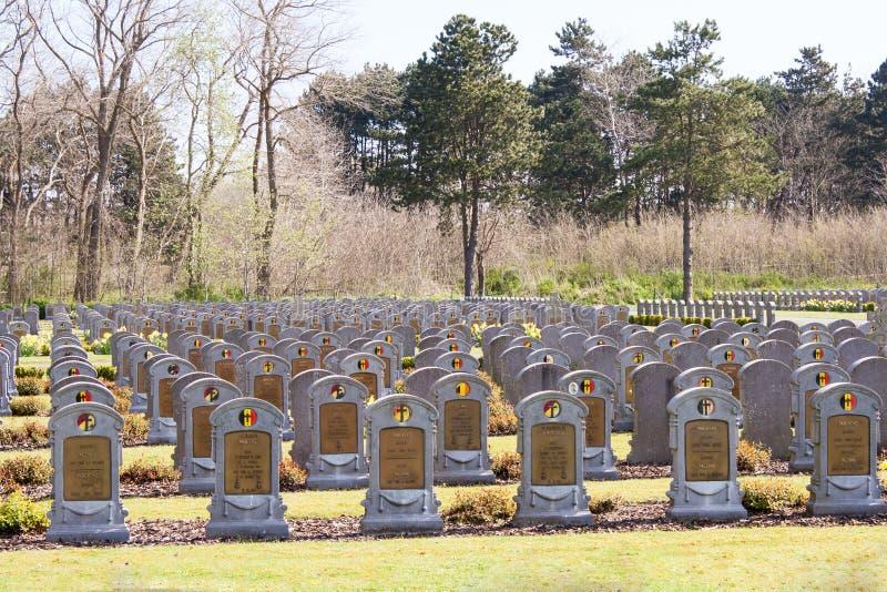 WW1 wereldoorlog één van België begraafplaats in Depanne royalty-vrije stock afbeelding