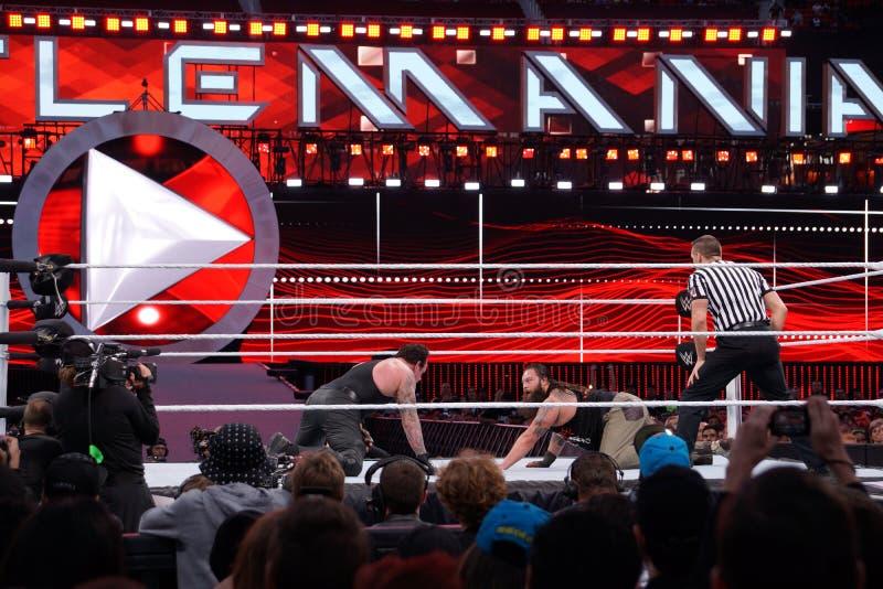 WWE-de Worstelaar de Begrafenisondernemer staart over in Bray Wyatt op F royalty-vrije stock afbeelding