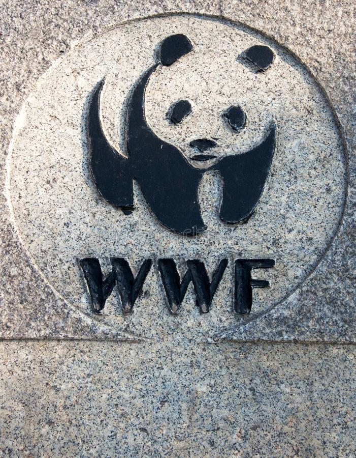 WWF-Zeichen stockfotografie