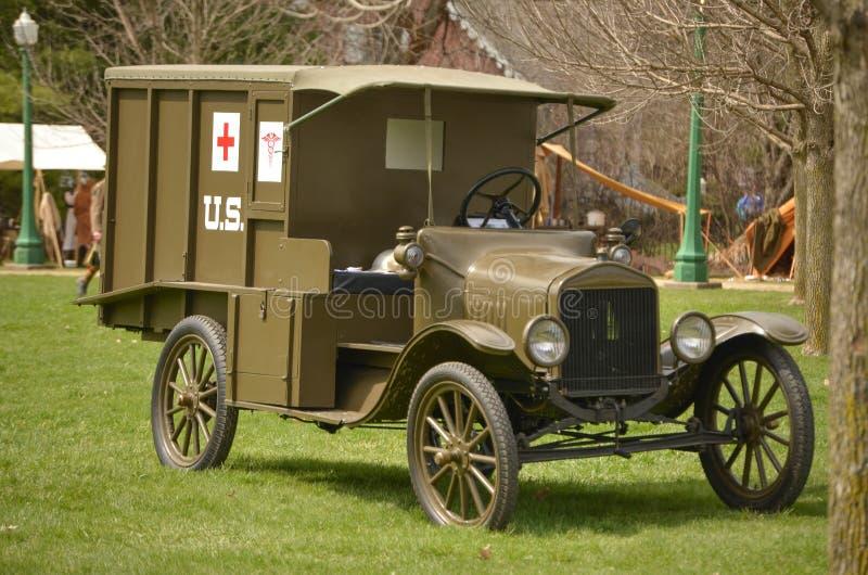WWI Ambulance. A vintage WWI US Army ambulance royalty free stock photography