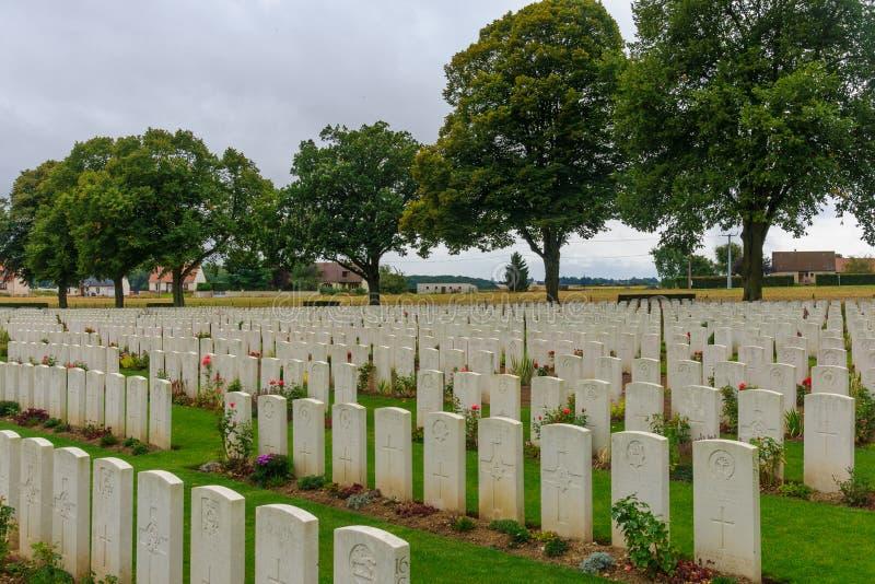 WWI-begraafplaats dichtbij Longueval stock afbeelding