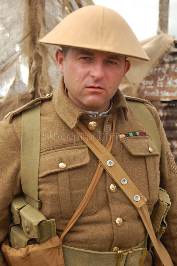 Wwi British Soldier Editorial Stock Photo