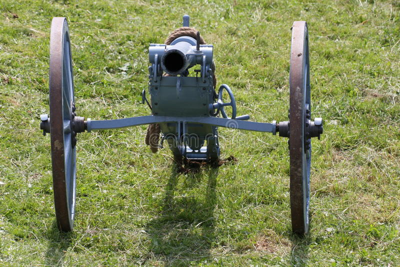 WWI Cannon ready to be used during an event stock image