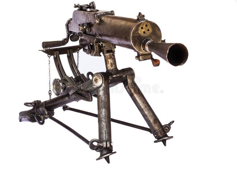 WWI Maszynowy pistolet obraz stock