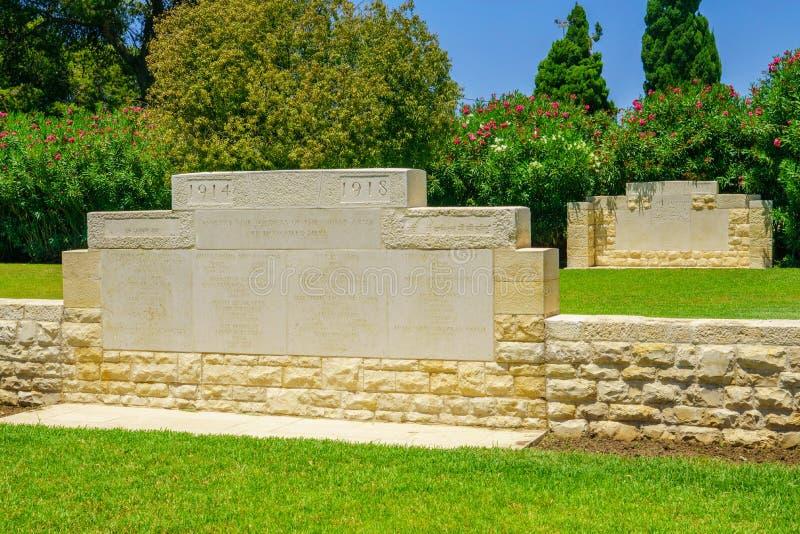 WWI-monument, Haifa royalty-vrije stock afbeeldingen