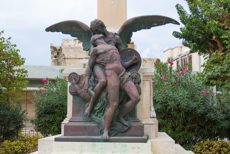 WWI pomnik w Trapani obrazy stock