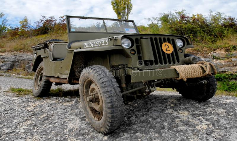 wwii美国军用吉普车  免版税库存图片