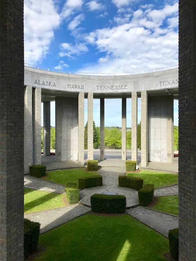 WWII-Denkmal in Belgien stockbild