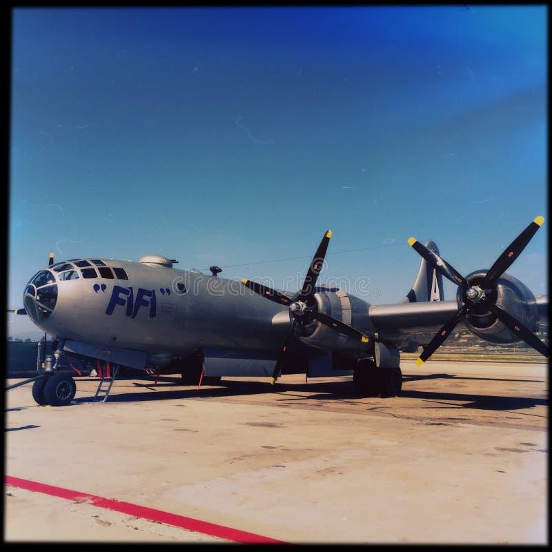 WWII Fifi B29 αεροπλάνο βομβαρδιστικών αεροπλάνων στοκ φωτογραφία με δικαίωμα ελεύθερης χρήσης