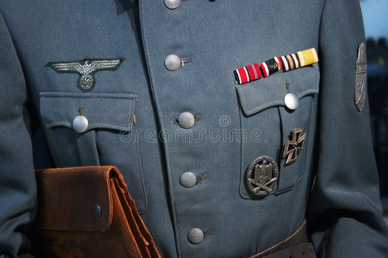 WWII German military uniform royalty free stock photography