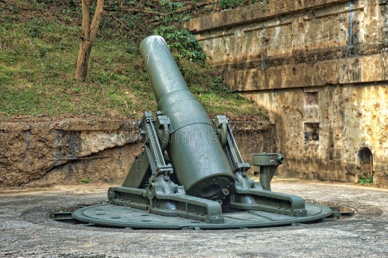 WWII granatnik, Corrigidor, Filipiny zdjęcie royalty free