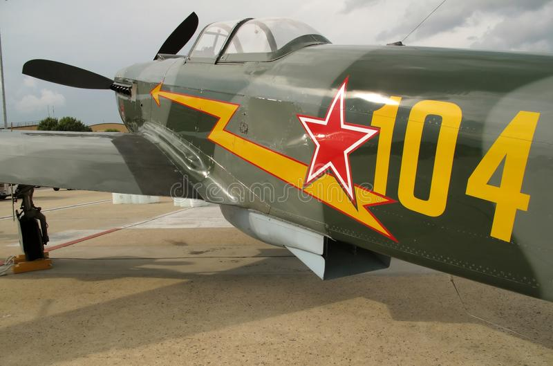 WWII Green Yak Fighter stock photography