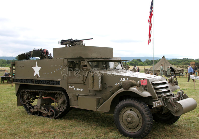 WWII Half Track royalty free stock photos