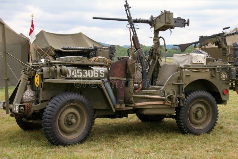 WWII Jeep lizenzfreie stockfotografie