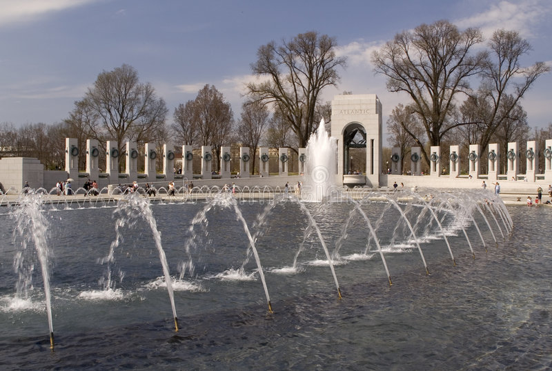 WWII Memorial in Washington, D.C. royalty free stock images