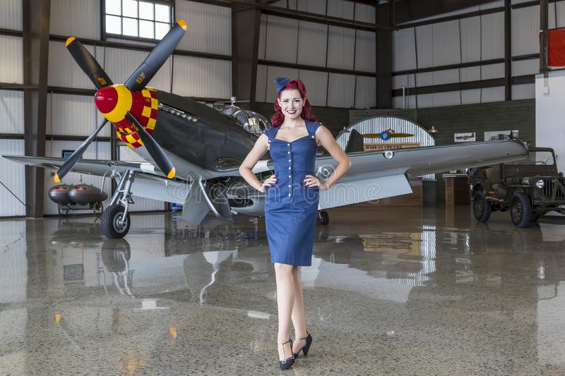 WWII Model and Airplane royalty free stock photos