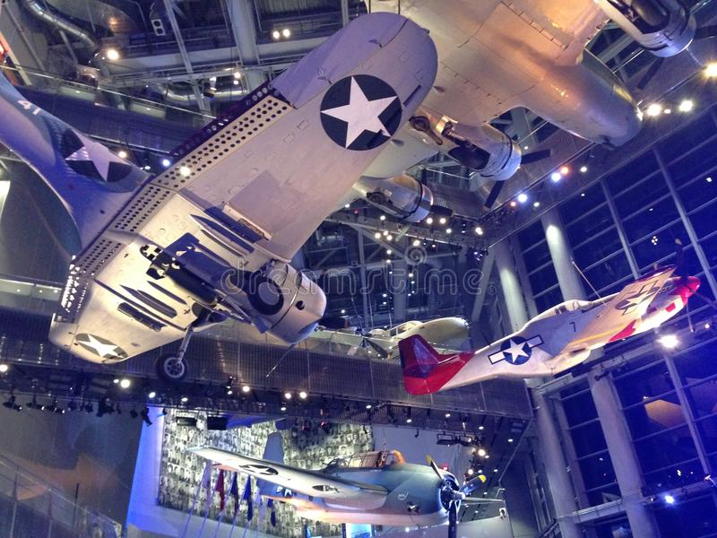 WWII Museum Aircraft stock photo