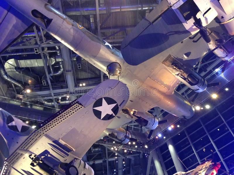 WWII Museum Airplanes stock photo