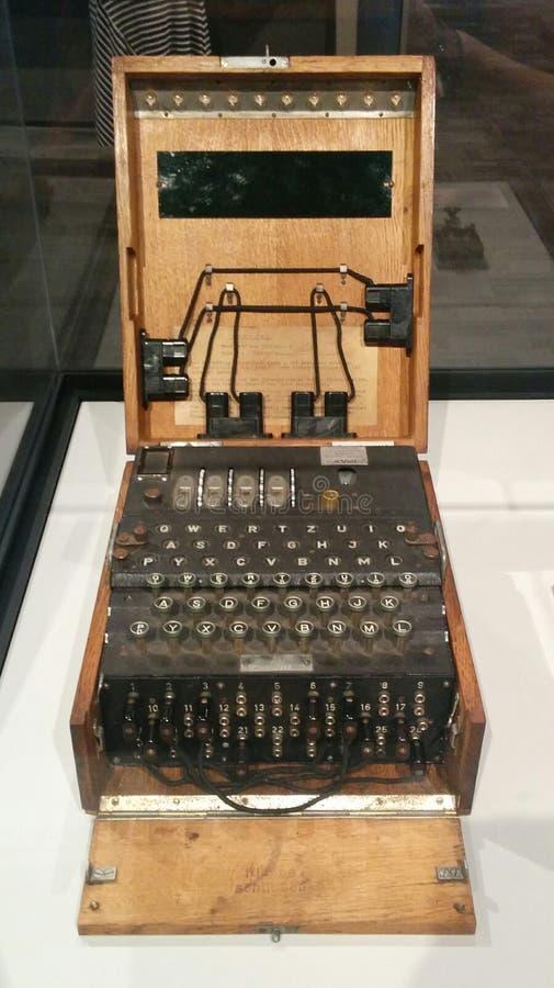 WWII niemiec Enigma kodu maszyna zdjęcie stock