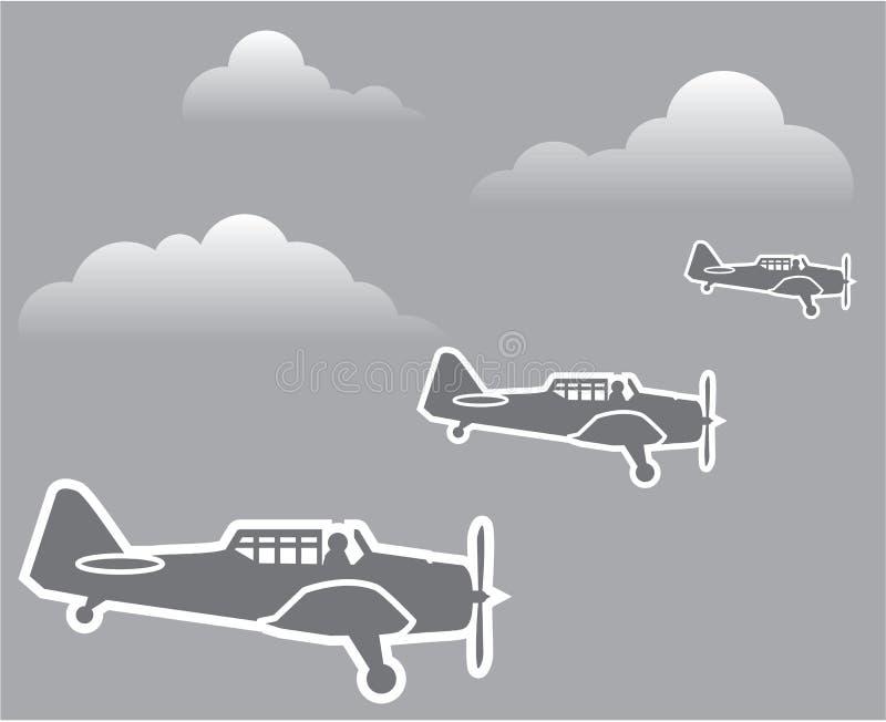 WWII samoloty royalty ilustracja