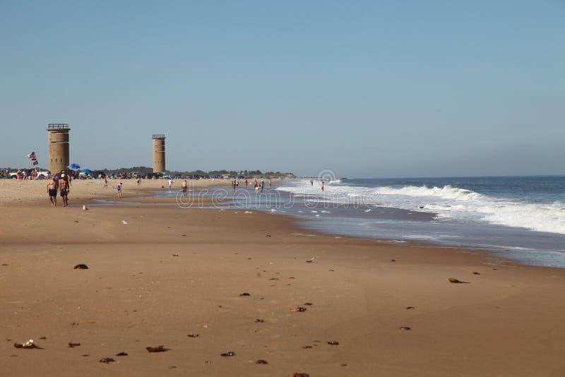 WWII står högt på Gordons stranden för dammdelstatsparken, Delaware fotografering för bildbyråer