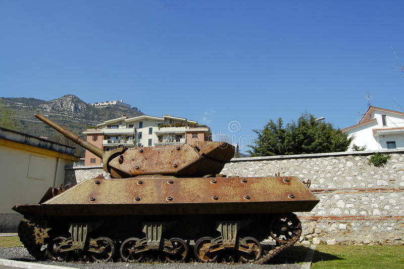 WWII Tank - Monte Cassino - Italy. WWII Tank in Monte Cassino - Italy stock photos