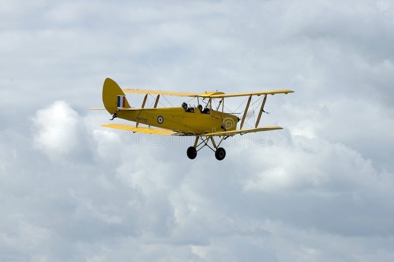WWII Tiger Moth at Duxford airshow stock photos