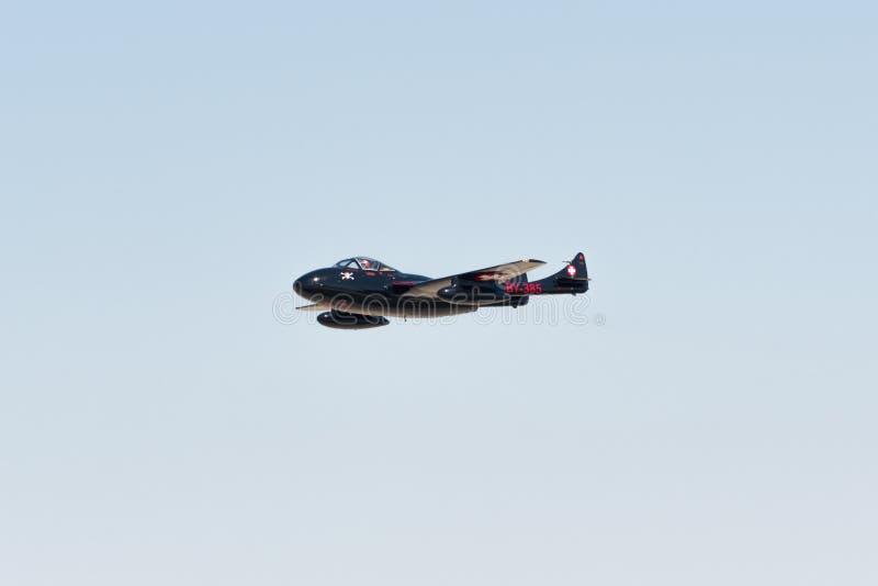WWII Vampire De Havilland British喷气机 库存照片