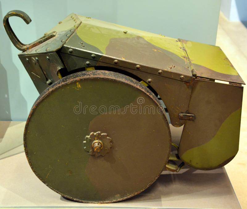 WWII weapons artillery gun of the second world war. PARIS FRANCE 09 23 2019: WWII weapons artillery gun of the second world war is in the field. Weapons of 1941 royalty free stock photography