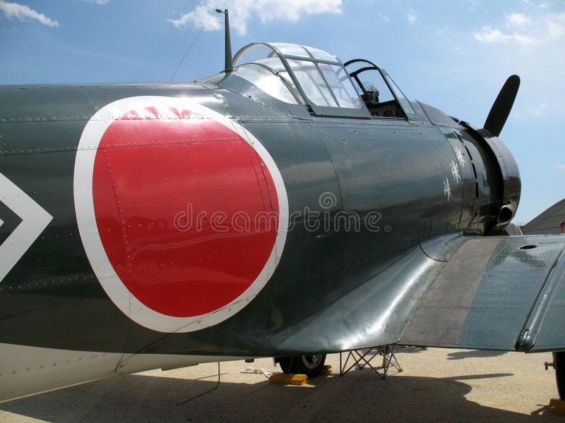 WWII Zero Fighter Plane stock photography