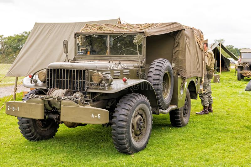WWll US Army Dodge WC Series Truck. stock photos