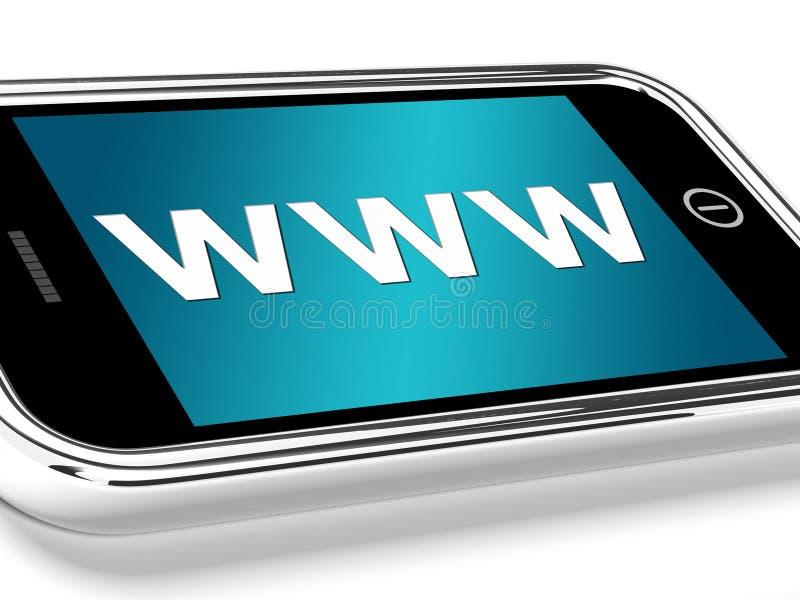 Www показывает онлайн вебсайты или передвижной интернет бесплатная иллюстрация