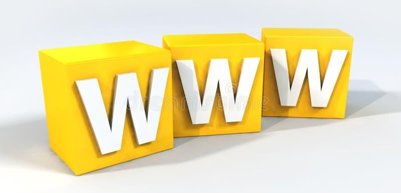 WWW illustration de vecteur