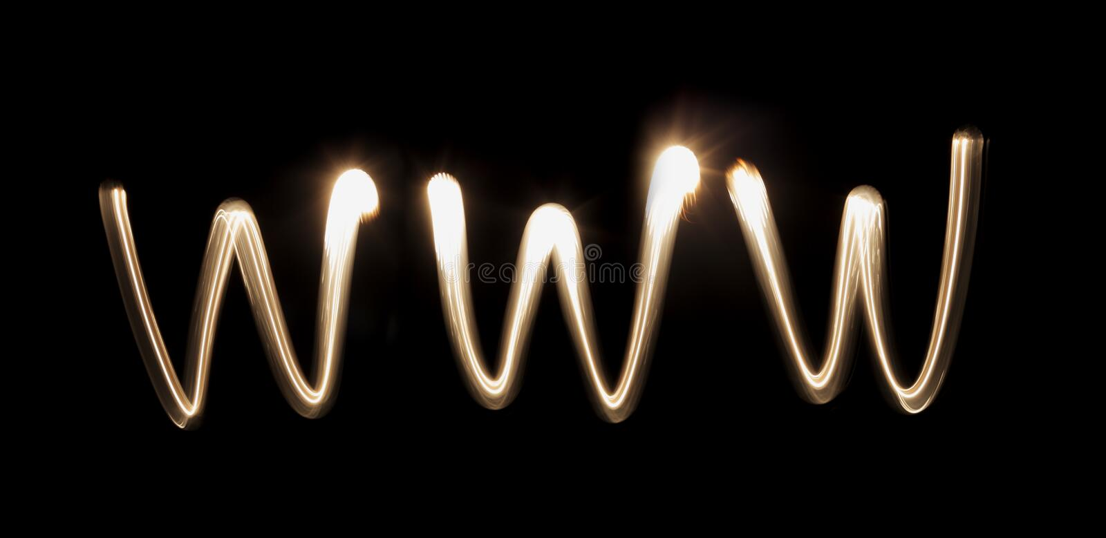 Download WWW stock photo. Image of glowing, streak, letters, abbreviation - 16403026