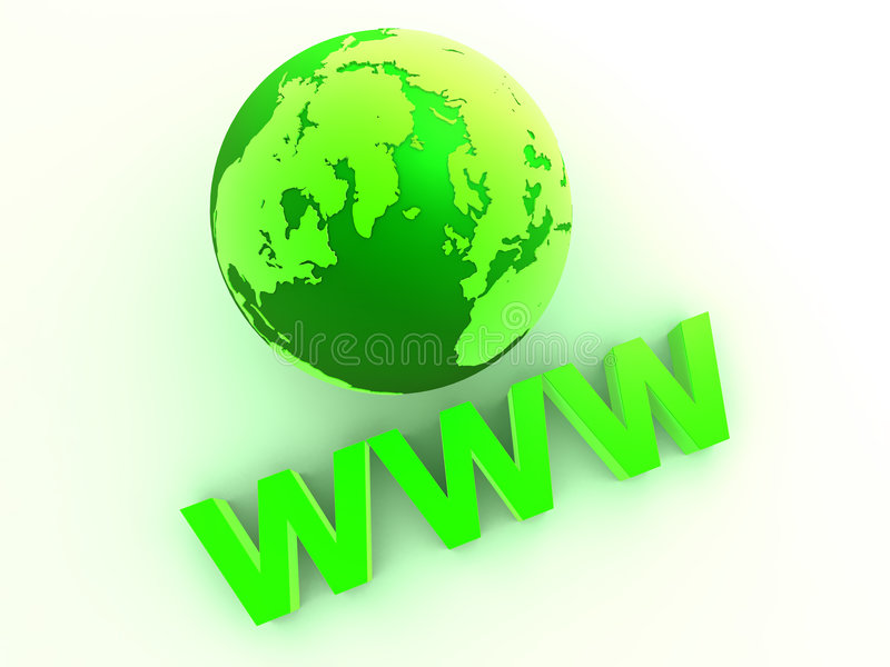 WWW ilustração stock