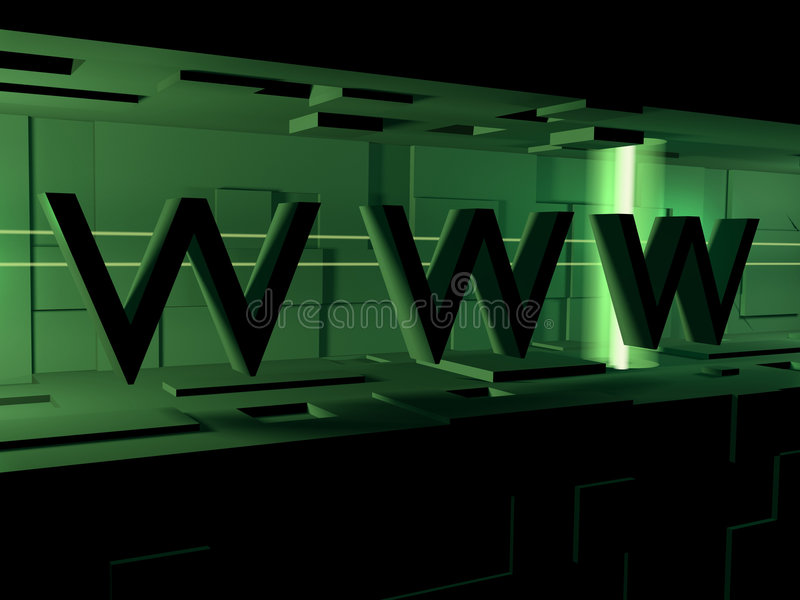 WWW 3d stock abbildung